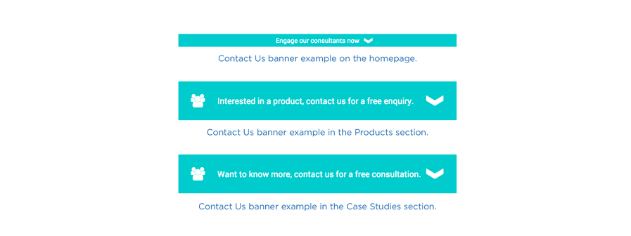 Bluescope Lysaght - Contact Us form banner options