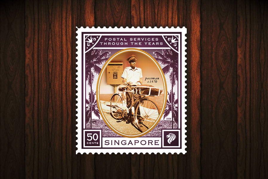 Postal Services of the Years - 50 cents stamp