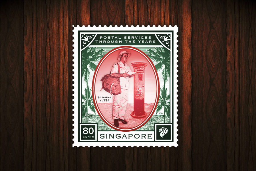 Postal Services of the Years - 80 cents stamp