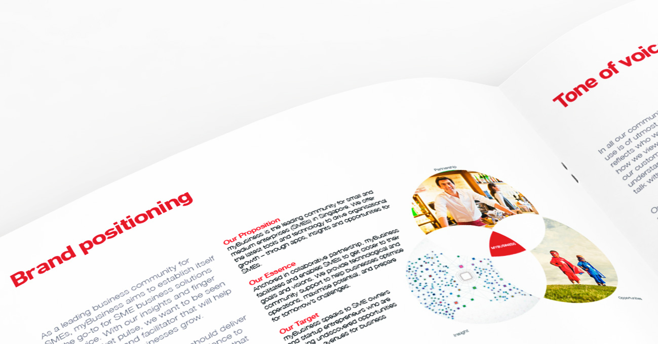 SingTel myBusiness Corporate Identity