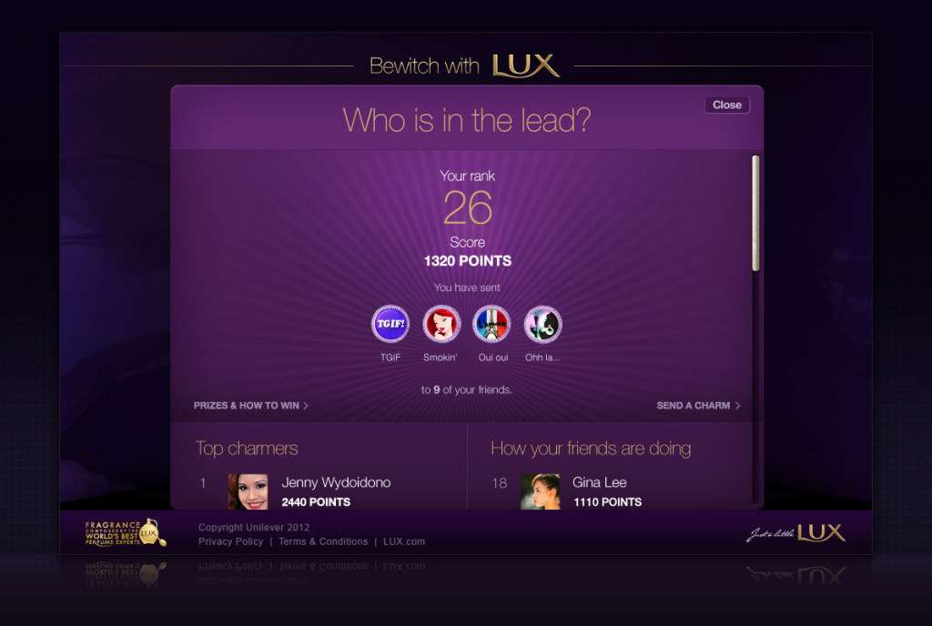 Bewitch with Lux campaign - FB app