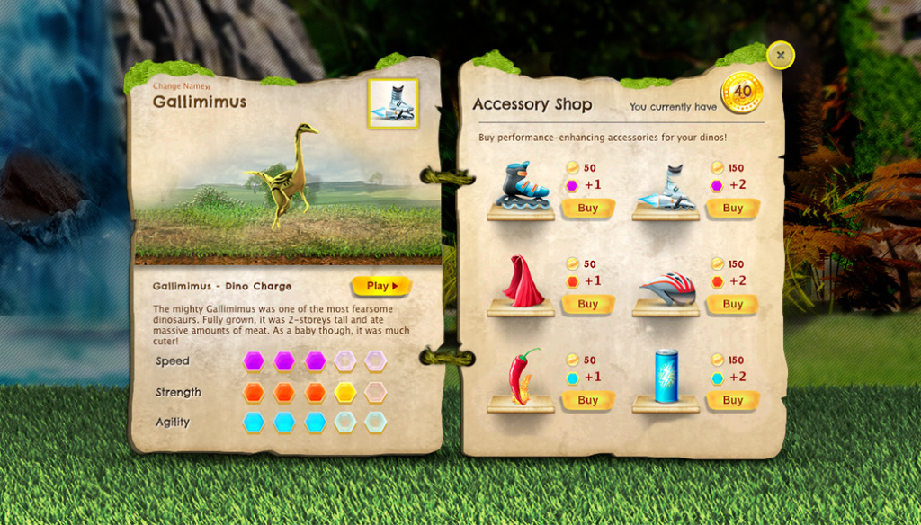Dino pets info details page