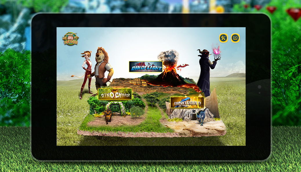Game selection screen for the tablet
