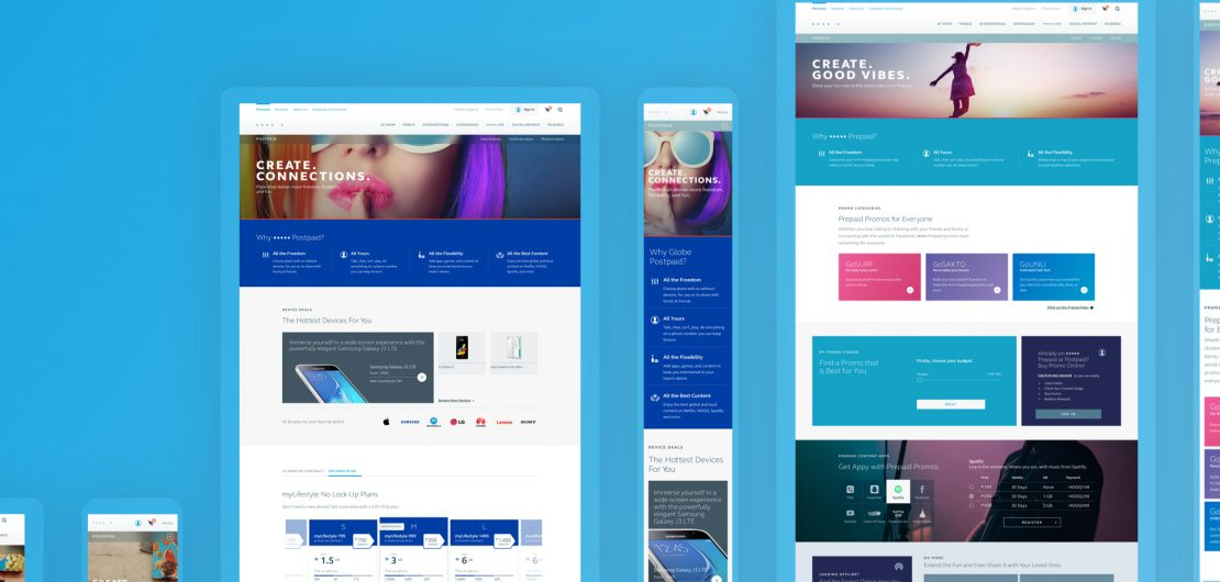 Telecommunications online portal redesign